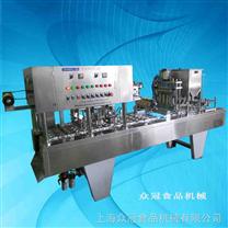 上海众冠BHJ- 4  全自动杯盒灌装封口机