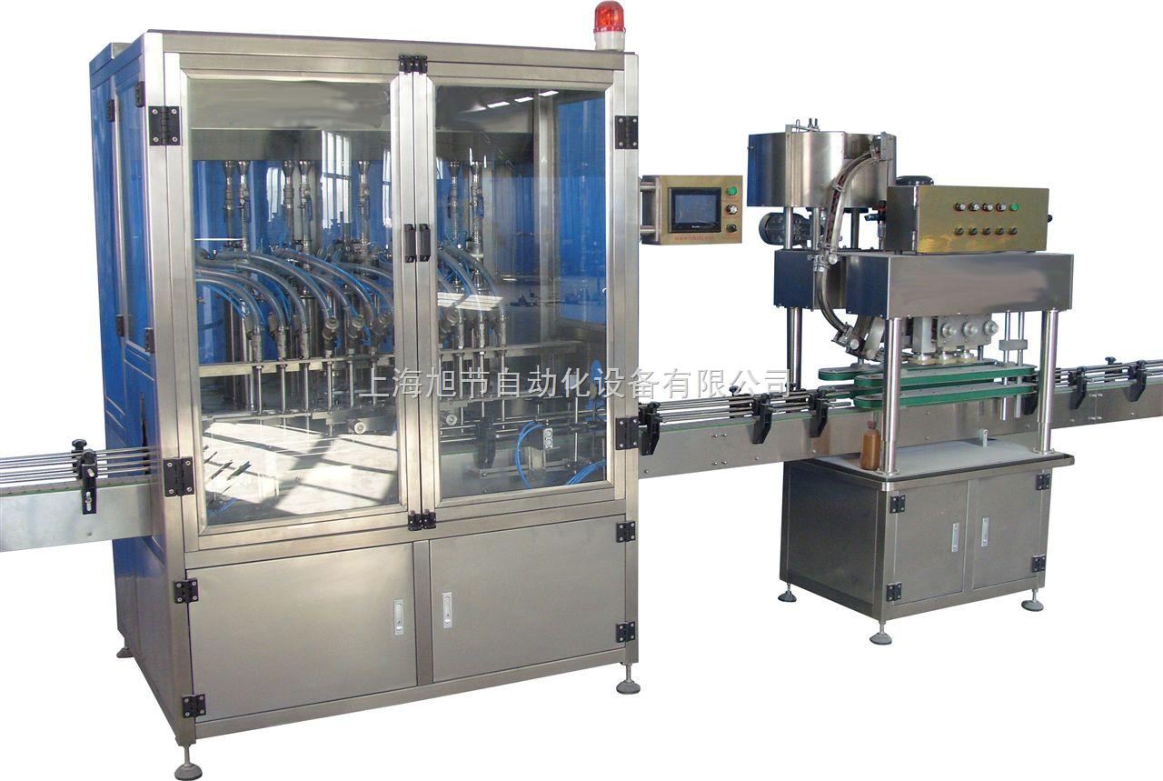 全自动液体灌装机/膏体填充机 自动灌装机,旋盖机