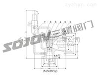 安全阀图片系列:Ax46F-16-100先导式安全阀-三精阀门有限公司