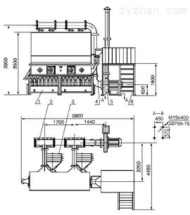 经热交换器的对流换热,使空气温度上升到一定值进入主机分风筒,经阀片
